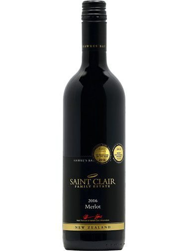 Saint Clair - Hawkeś Bay Premium Merlot, Marlborough 2016, 0,75l